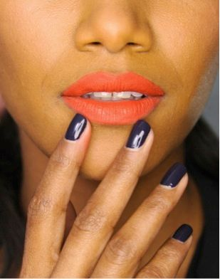 <p>Gina Edwards polished nails at Zac Posen in Morgan Taylor's Hide &amp; Sleek. Images courtesy of Morgan Taylor Lacquer.</p>