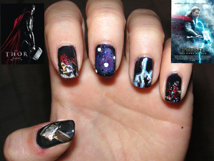"<p>Abstract Thor nails by <a href=""http://nailartgallery.nailsmag.com/wellimaweirdo"">Marta Borchi</a>, Italy</p>"
