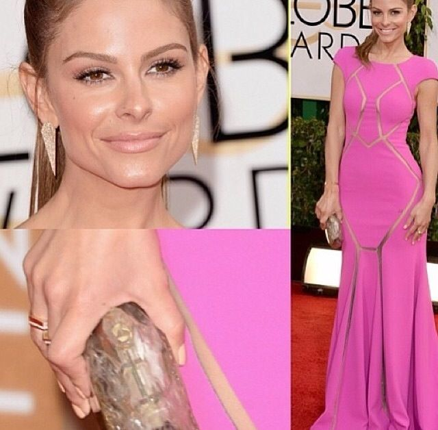 <p>Maria Menounos' complete Golden Globes look. Image via @katiejanehughes</p>