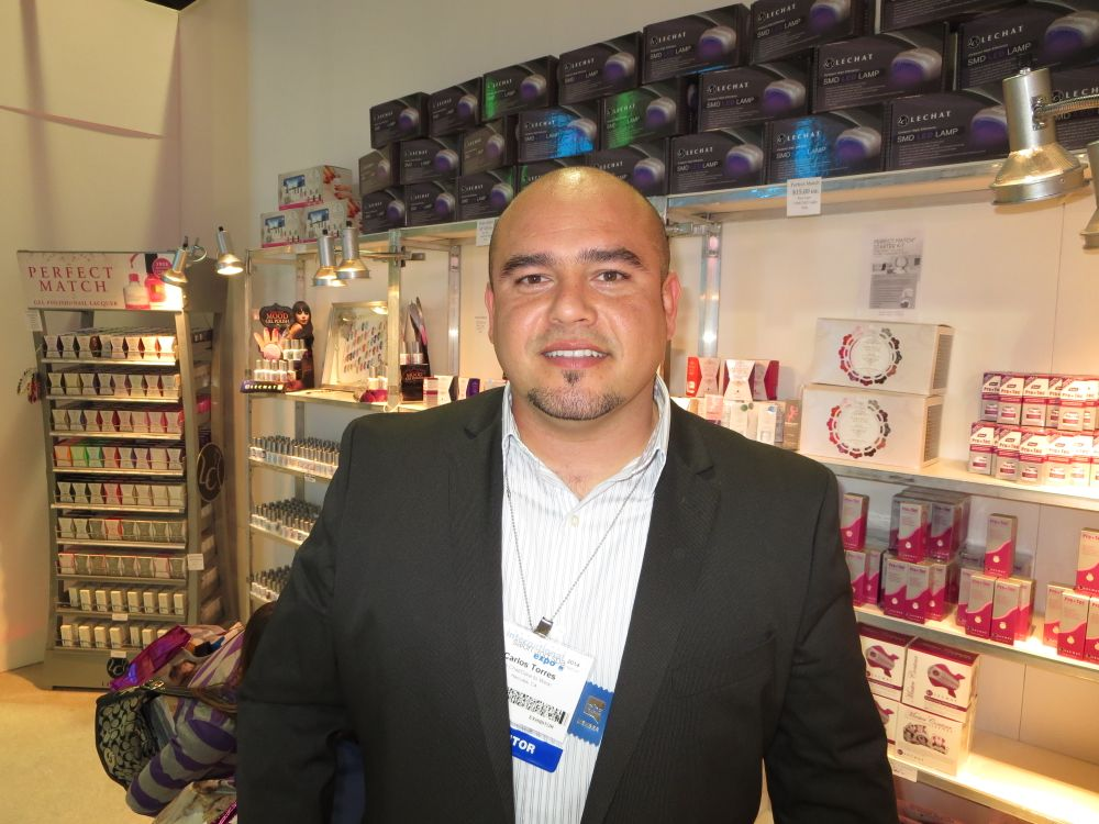 <p>LeChat's Carlos Torres chatted it up about the brand's new products.</p>