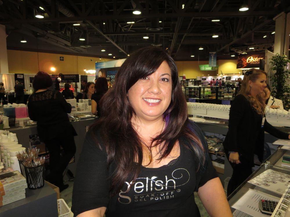 <p>Gelish's MaeLing Parrish smiles pretty.</p>
