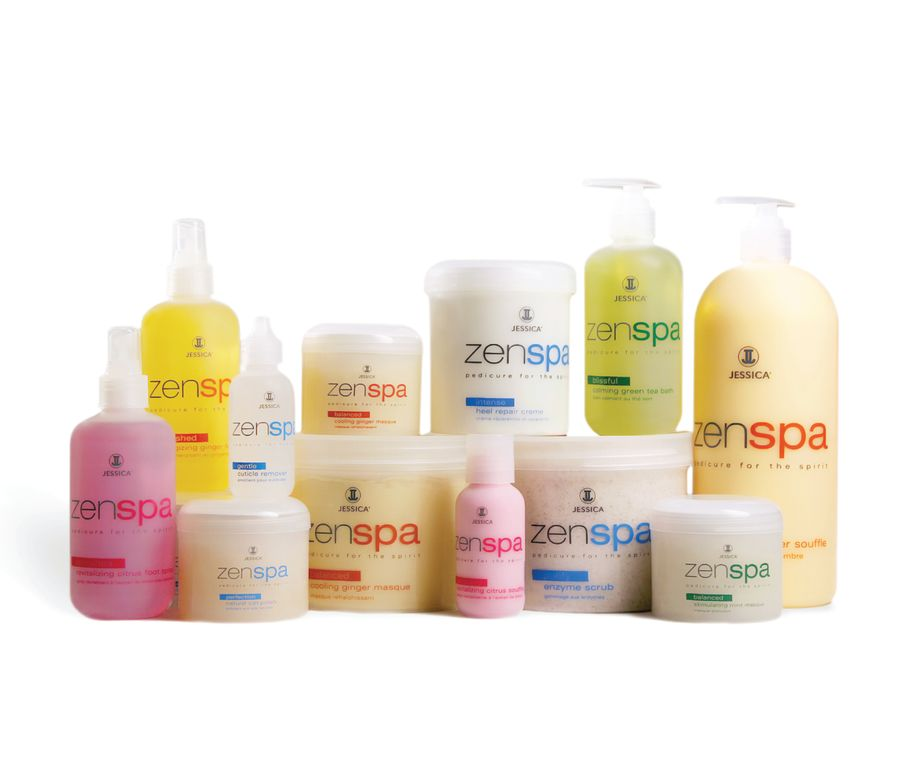 """<p>Jessica&rsquo;s debut spa pedicure collection, ZenSpa System, unites ancient Eastern practices of aromatherapy with natural botanicals and enzyme therapy to create an array of personalized foot treatments. Infused with Papain, a green papaya extract, the system dissolves dead skin and leaves feet visibly renewed. Everything from cuticle remover gel to heal repair cream is available.</p> <p><a href=""""http://www.jessicacosmetics.com"""">www.jessicacosmetics.com</a></p>"""