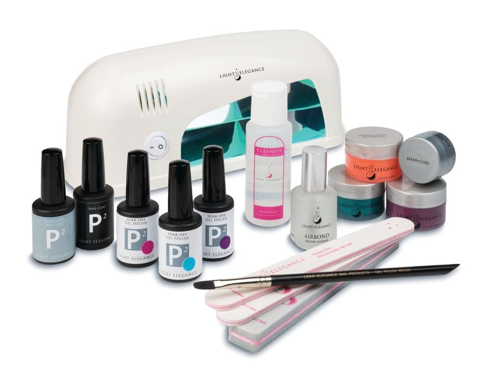 """<p>Light Elegance&rsquo;s all-inclusive Pedi-Kit contains everything nail techs need to turn out set after set of happy clients. In the kit, you&rsquo;ll find: three gel-polishes and three glitter gels with an application brush; flexible and self-leveling Mani-Cure gel; AirBond, an air-dry bonder; Top Gloss; nail cleanser; a Pedi-Light; two files; and a foamie.</p> <p><a href=""""http://www.lightelegance.com"""">www.lightelegance.com</a></p>"""