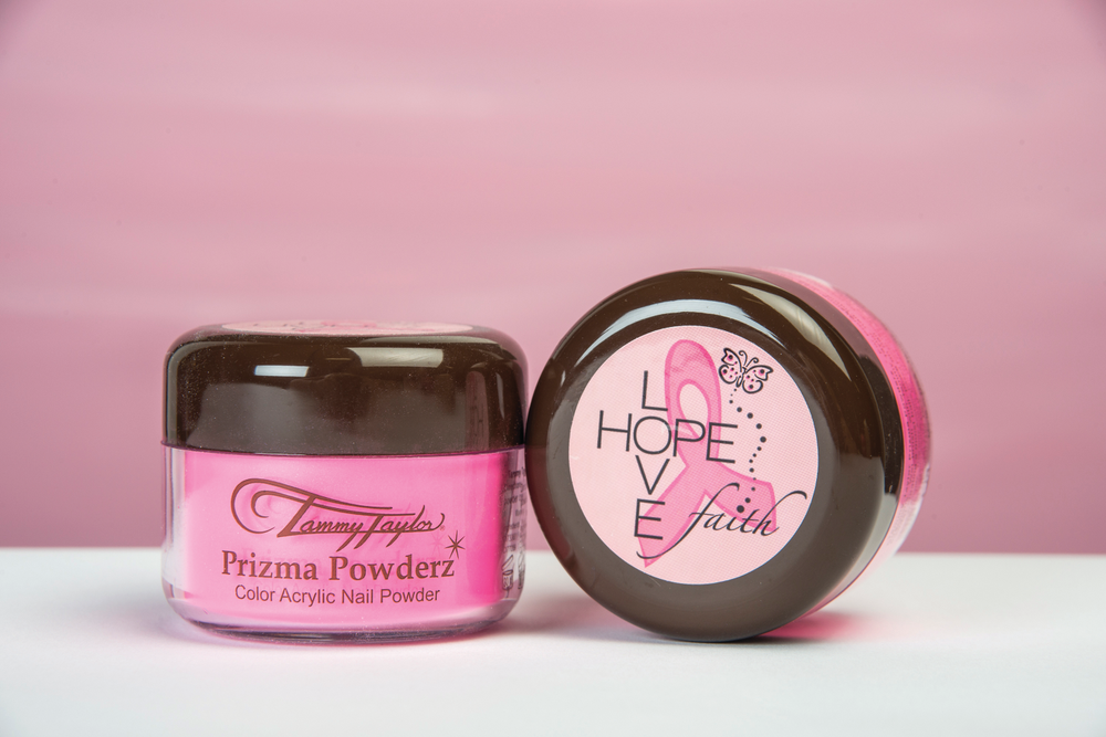 <p>Tammy Taylor Nails will donate $1 for every sale of its most &shy;popular color acrylic nail powder, Haute Pink Prizma, to support breast cancer awareness. &nbsp;</p>