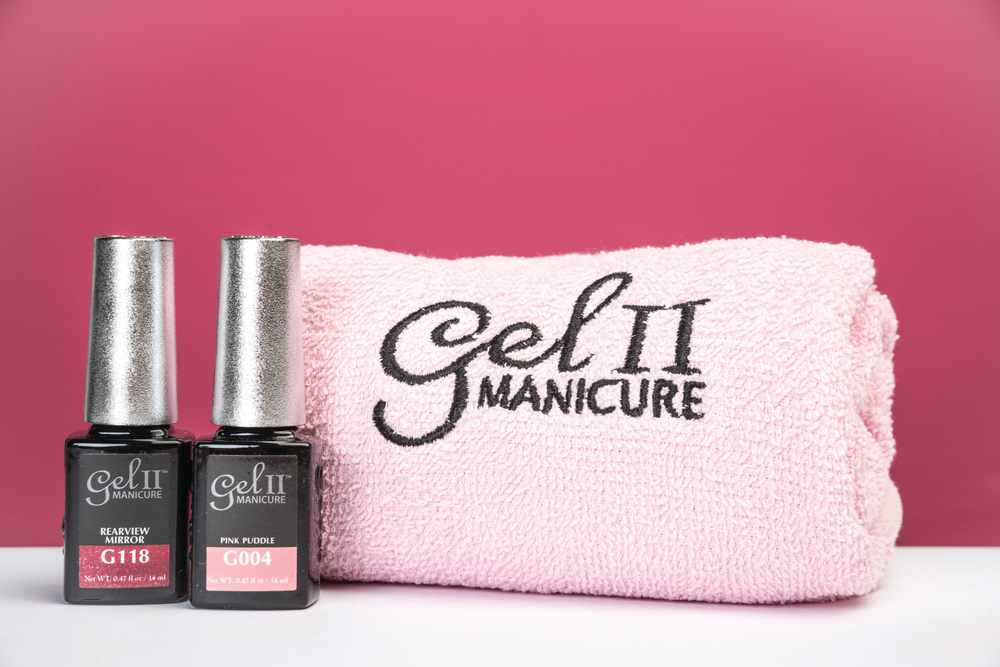 <p>Gel II is tickled pink to join in the cause to raise awareness. During September and October, Gel II is releasing a limited-time-only duo set with a signature pink towel. The exclusive set features two hot pinks, G118 Rearview Mirror and G004 Pink Puddle, that will inspired you for Breast Cancer Awareness Month.&nbsp;</p>