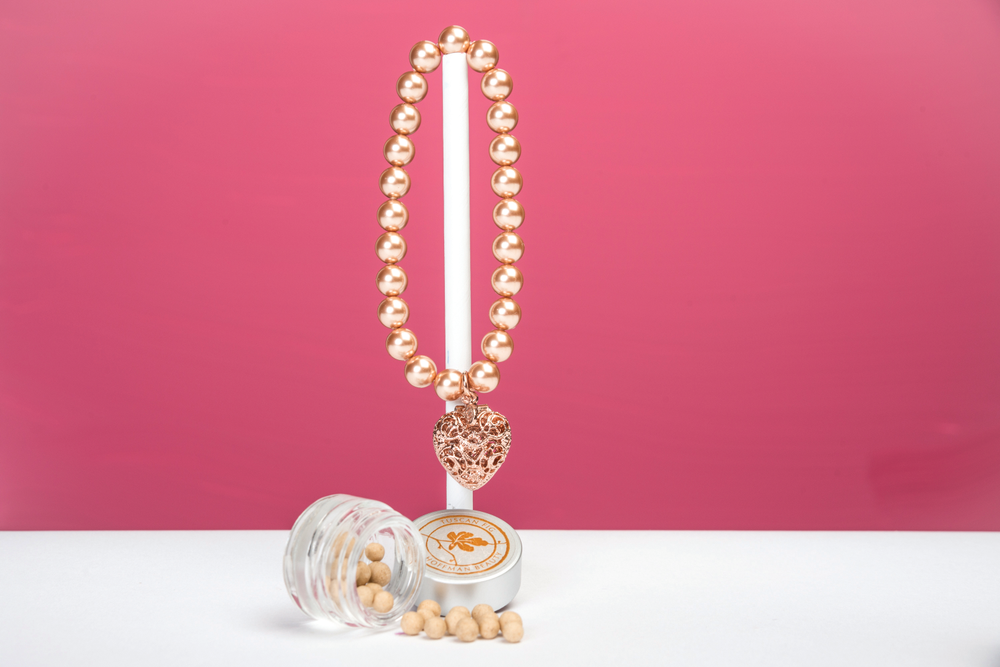 <p>Lisa Hoffman Beauty will donate 100% of proceeds from the new limited edition Rose Pearl Fragrance Bracelet to the National Cancer &shy;Coalition. This unique piece allows women to wear fragrance their way with a signature jewel-encased bracelet made of Swarovski pearls, combining fashion and fragrance in support of the fight against breast cancer. </p>