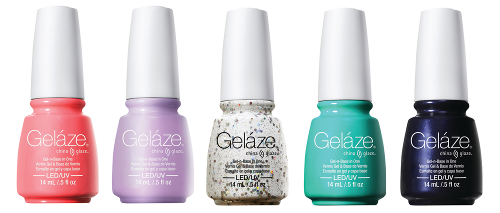 <p>Gel&aacute;ze is releasing five bright and bold China Glaze shades that add pep to your step in creamy pastels and glitter confetti. The spring collection includes Neon &amp; On &amp; On, Sweet Hook, Techno, Too Yacht to Handle, and Up All Night.</p>