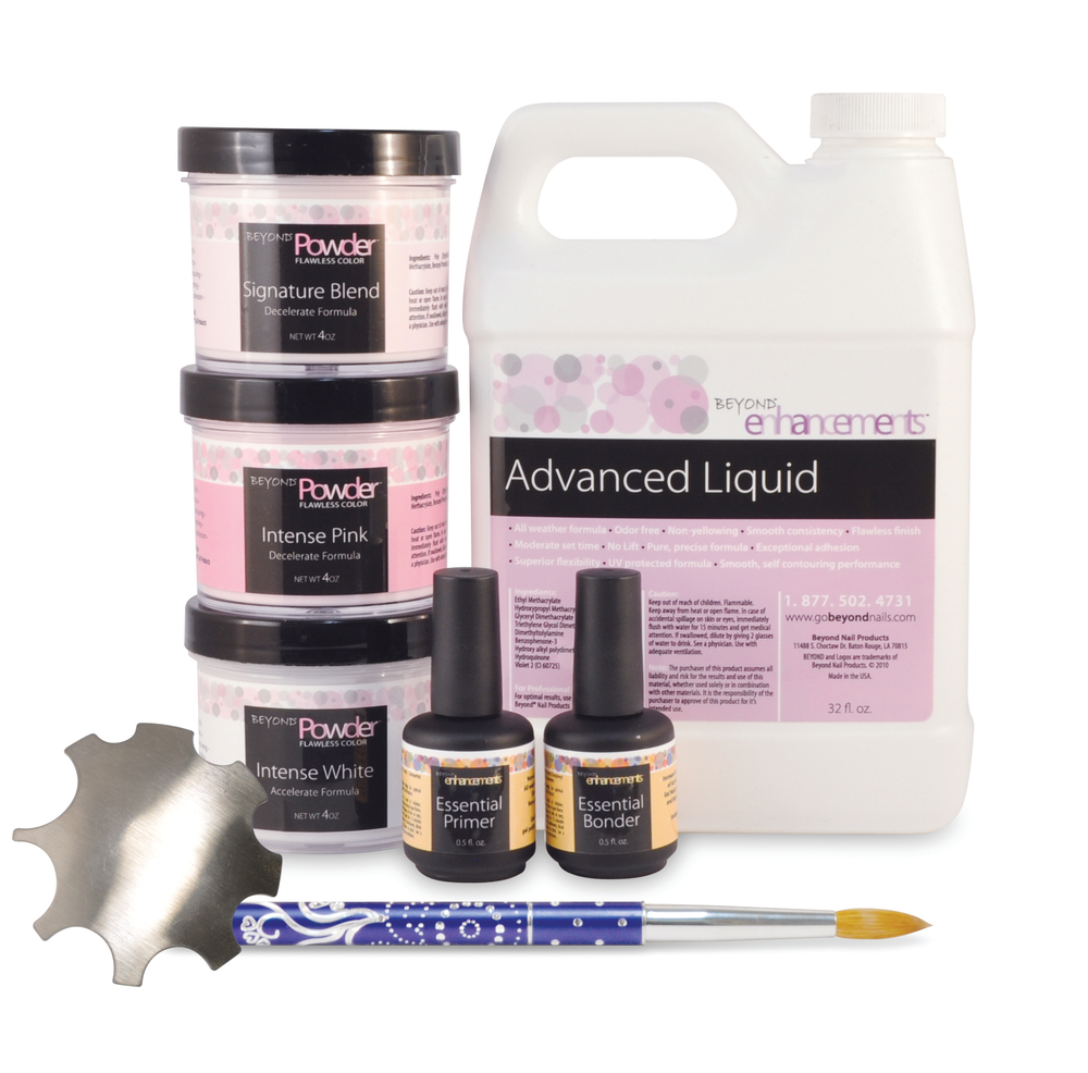 <p>Alfalfa Nail Supply&rsquo;s Beyond Acrylic System offers the trendiest colored powders available. The formula is bubble-free, non-lifting, self-leveling, self-contouring, non-yellowing, offers a smooth consistency, and consistent color blending with great adhesion.&nbsp;</p>