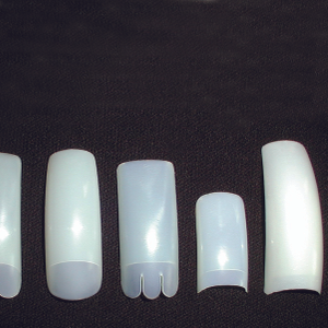 The tips pictured are (left to right) Creative's Formation and Eclipse, OPI's Vaulted,...