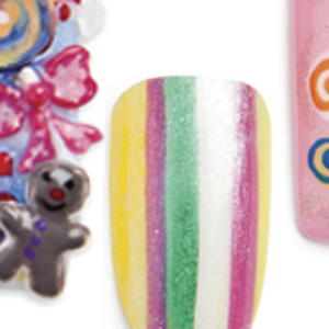 Candy-coated Nail Art