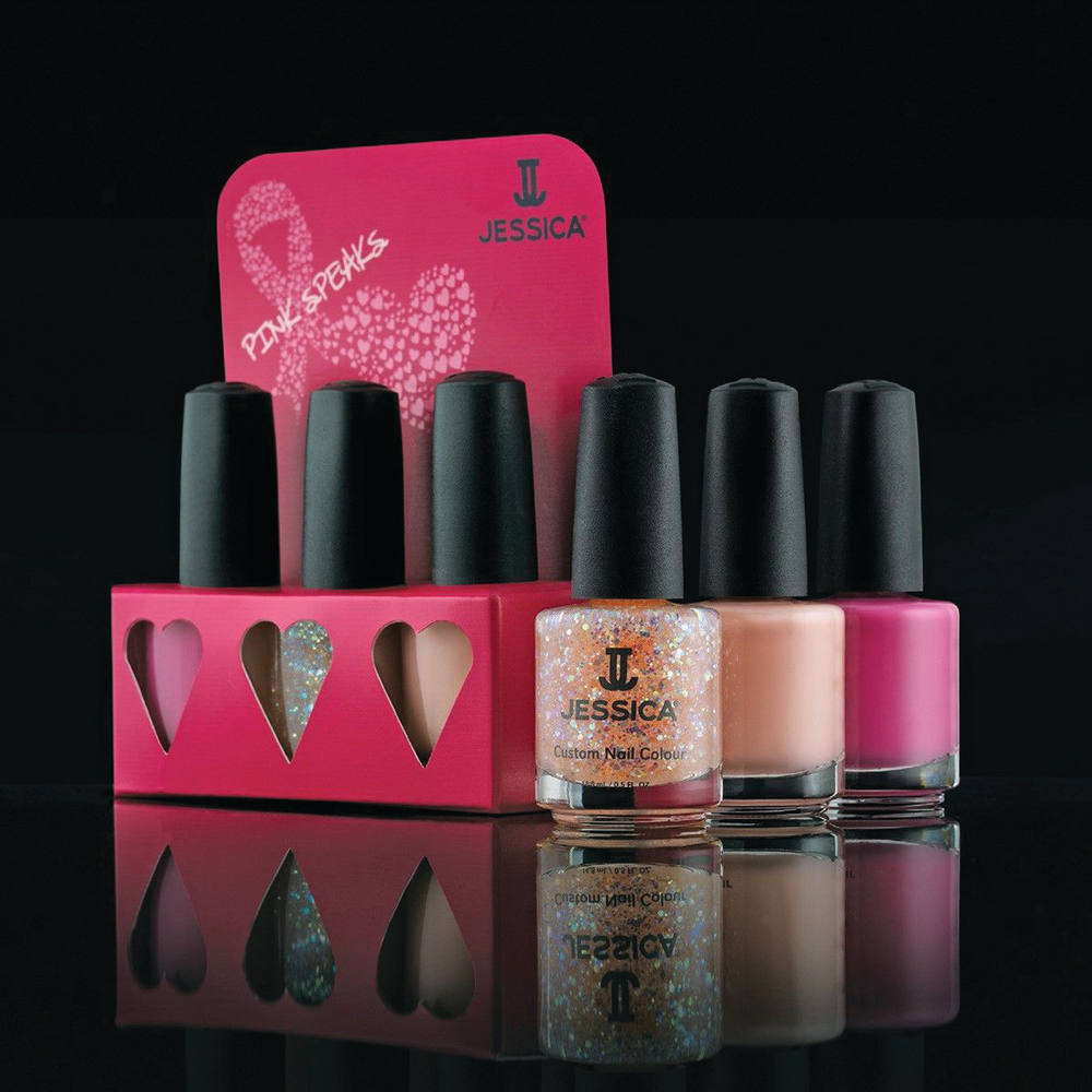 <p>Giving back always makes one of the best gifts and Jessica Cosmetics inspired Pink Speaks Collection helps to empower us all. In support and celebration of breast cancer survivors, and honoring the millions of people worldwide who have been affected by the disease, 100% of all Jessica Cosmetics International&rsquo;s profits from the sale of the special edition set will be donated to BreastCancer.org to support the breast cancer research grant at the American Institute for Cancer Research. <br /><br /></p>