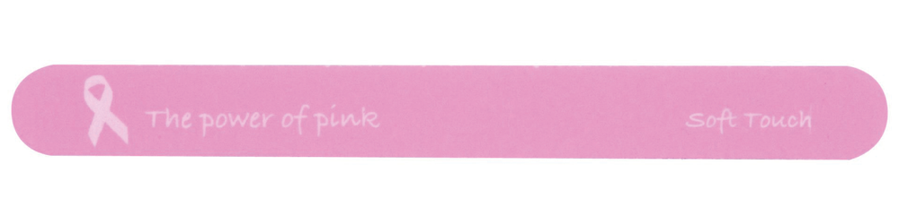 <p>Show off the true power of pink with these Soft Touch 7-in. disinfectable 280/320 grit files. A portion of the proceeds will be &shy;donated to City of Hope.&nbsp;</p>
