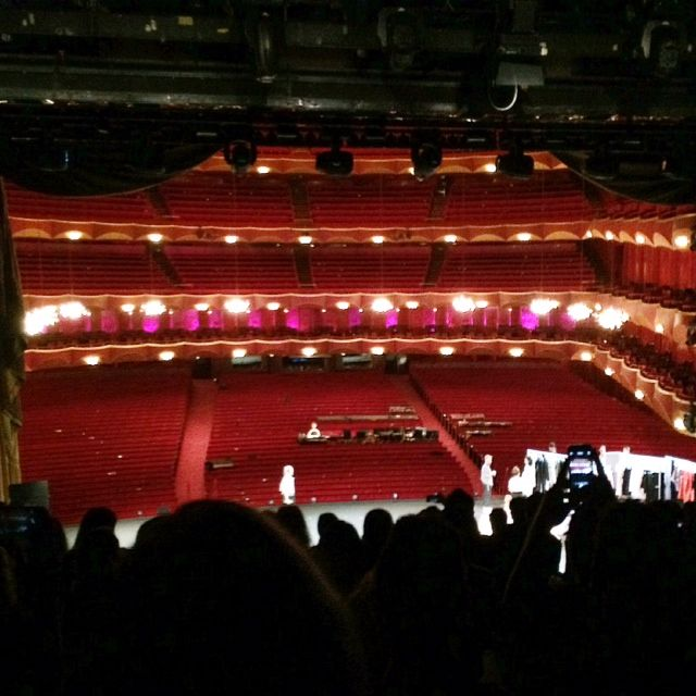 <p>After the curtain went up at Opening Ceremony.</p>
