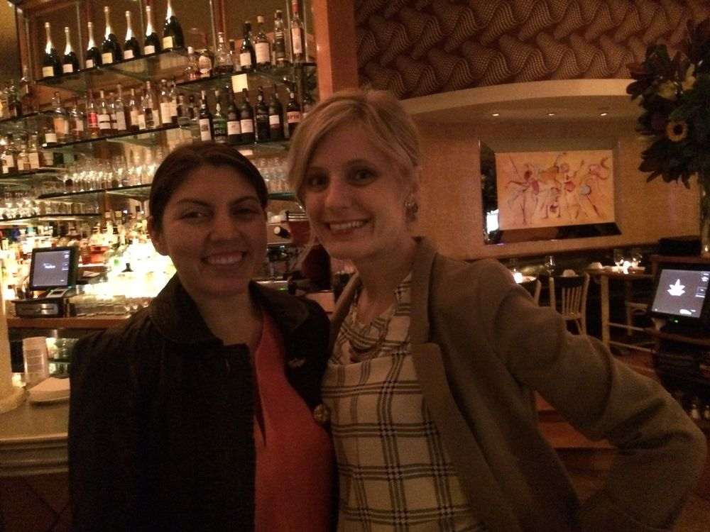 <p>butter LONDON nail tech Monica Hues (right) and senior editor Beth Livesay.&nbsp;</p>