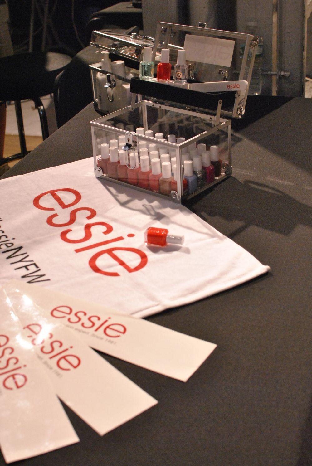 <p>The Essie kit nail techs used bacsktage at NYFW.&nbsp;</p>
