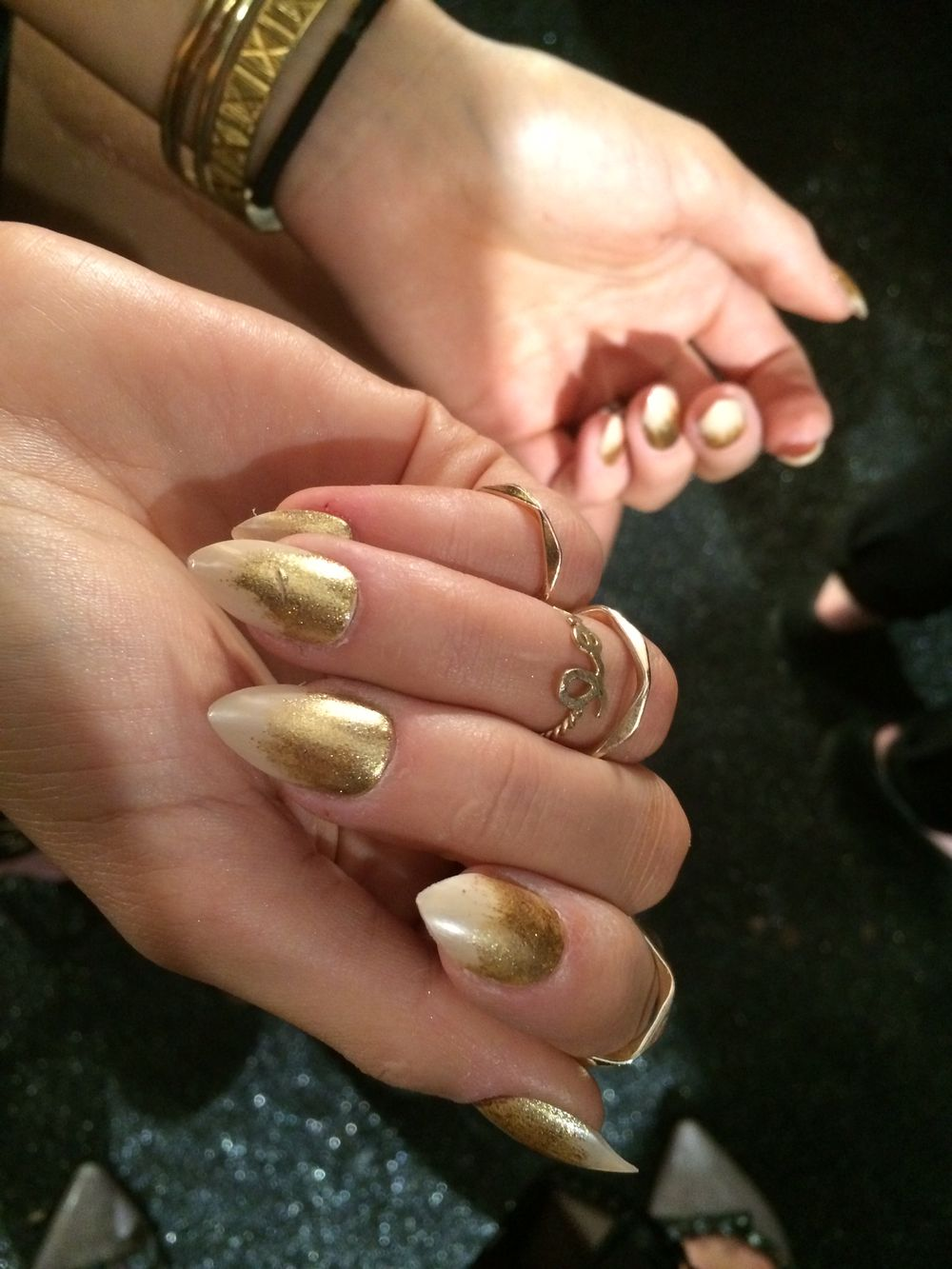 <p>Close up of the nails at Michael Costello by China Glaze.&nbsp;</p>