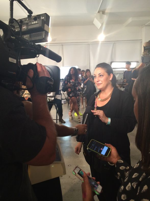 <p>CND education manager Roxanne Valinoti talks to the press.</p>