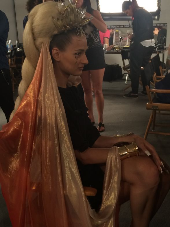 <p>Almost ready for the Blonds show.&nbsp;</p>