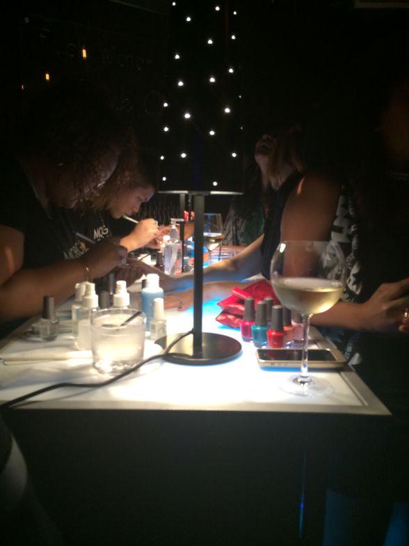 <p>The Morgan Taylor nail bar at OK! Magazine's Fashion Week wrap party.&nbsp;</p>