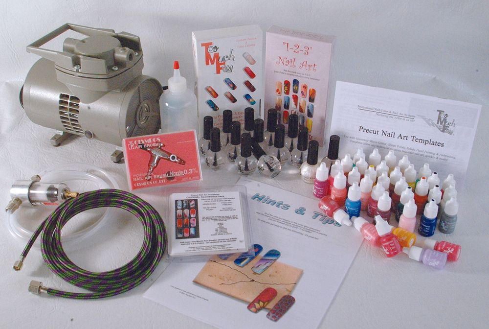 <p><strong>2006 Favorite Airbrushing System: Too Much Fun Complete Airbrush System</strong></p> <p>2nd: Safari Airbrush Airbrush System<br />3rd: Del Laboratories Sally Hansen Airbrush Sun <br />4th: Badger Airbrush System<br />5th: Aztek Airbrush Syste</p>