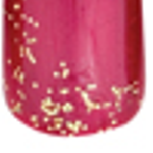 Repeat with larger glitter pieces. Cure for 30 sec-onds. Seal nail with a heav-ier coat of clear...