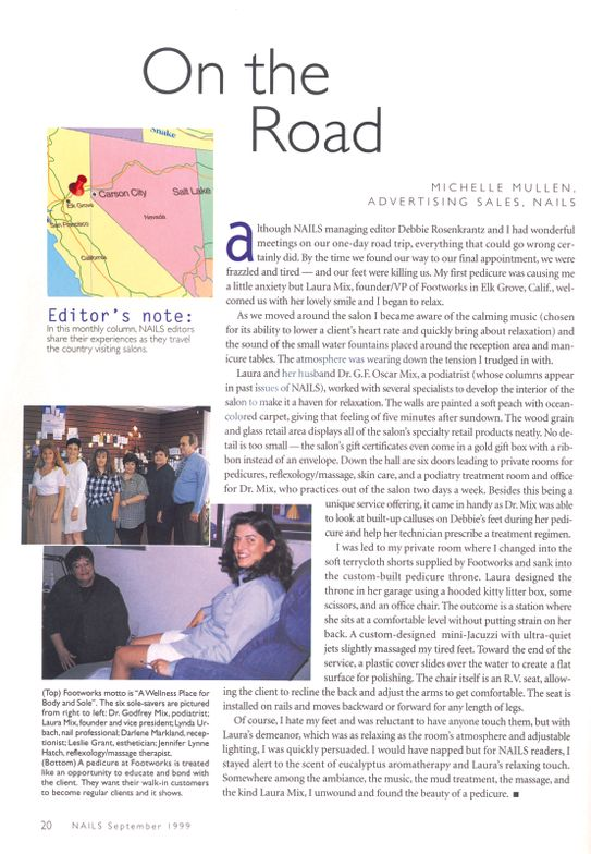 <p><strong>1994</strong>: We start our On the Road column, journaling our salon visits.</p>