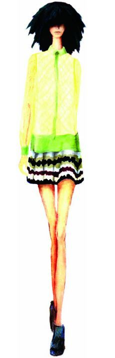 <p><strong>Margarita</strong>, a piquant yellow-green, lifts spirits with its refreshing and stimulating glow.</p> <p><em>Illustration by NAHM by Nary Manivong and Alexandria Hilfiger. Originally appeared in The Pantone Fashion Color Report Spring 2012.</em></p>
