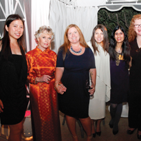 From left to right: VietSALON's Kim Pham, Legacy of Style honoree Tippi Hedren, Hannah Lee,...