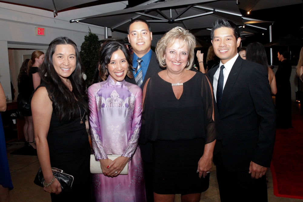 <p>Van Le with Advance Beauty College's Linh Nguyen, Sunny Beauty Supply's Johnny Tran, CND's Jan Zanettini, and Advance Beauty College's Tam Nguyen.</p>