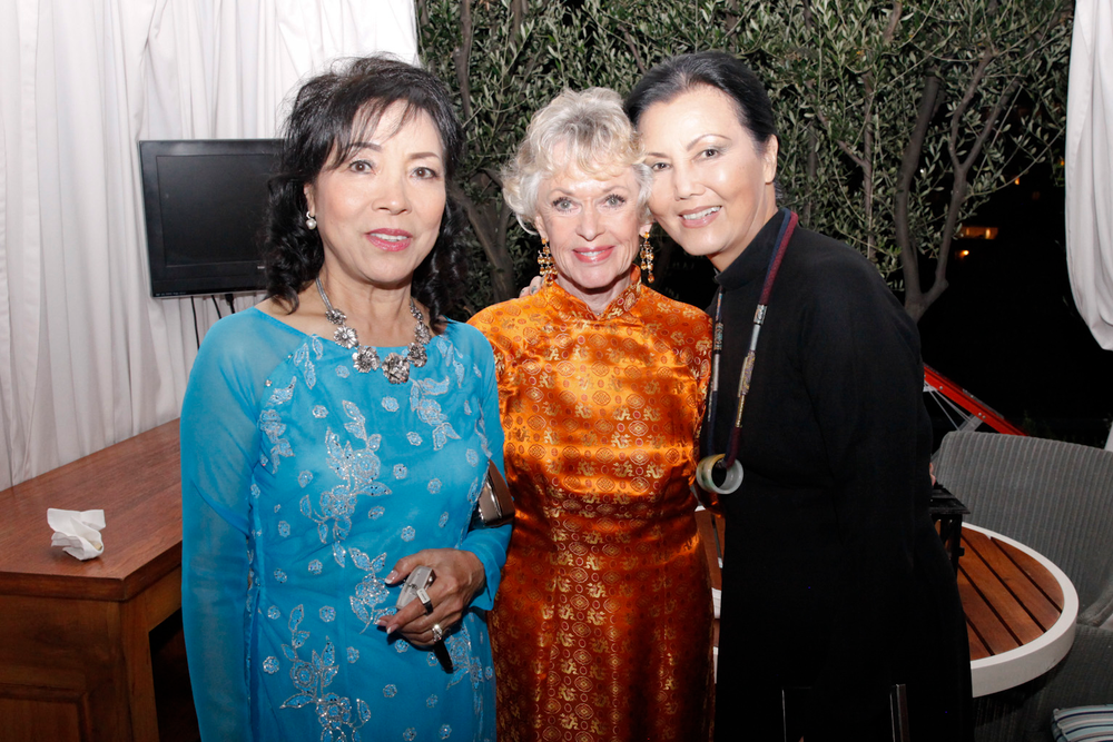 <p>Nail tech Thuan Le (left) and actress Kieu Chinh (right) attend the event to support their dear friend, Tippi Hedren, who was honored with the Legacy of Style award.</p>