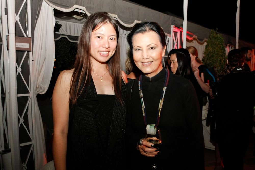 <p>VietSALON associate editor Kim Pham with actress Kieu Chinh.</p>