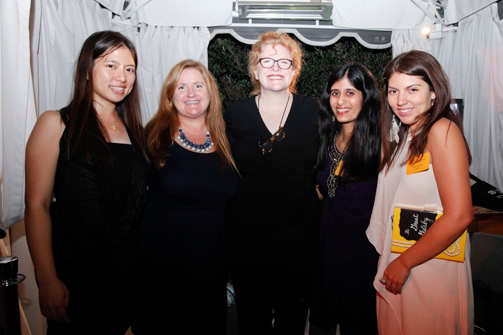<p>VietSALON's Kim Pham, NAILS' Hannah Lee, Cyndy Drummey, Sree Roy, and Salon Fanatic's Beth Livesay.</p>