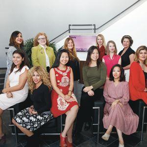 I love this team! The NAILS Magzine staff from L to R (back row): Carla Benavidez-Harris, Cyndy...