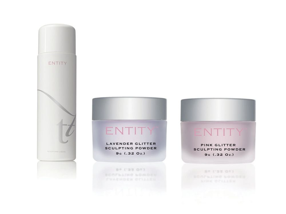 <p>Entity&rsquo;s low-odor and cosmetic-grade powders and liquids are formulated to perform perfectly together. The Signature Sculpting Liquid is designed for extreme control and champion performance. A full spectrum of colors ranging from pastels to bold and bright glitters will allow you to bring your creativity to life.&nbsp;</p>