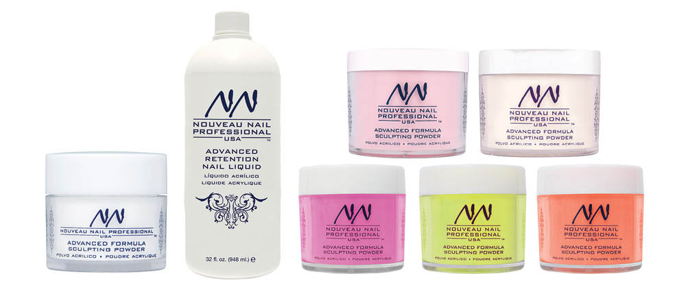 <p>Nouveau Nail&rsquo;s Advanced Formula Sculpting Powders are triple sifted acrylic powders made with a unique formula that combines the adhesion properties of a hard polymer with the flexibility of a soft polymer. Pair them with Nouveau Nail Advanced Retention Nail Liquid for superior adhesion. The monomer is formulated with UVA and UVB inhibitors to help prevent yellowing. The liquid is available in low-odor and odorless formulas. To add flair to nails, use Nouveau Nail City Lights Neon Bold and Glitter Sculpting Powders. The sculpting powders are available in more than a dozen dazzling colors.&nbsp;</p>