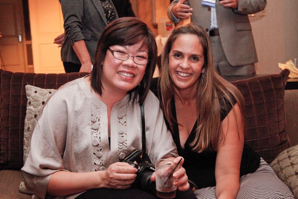 <p>Alfalfa Nail Supply's Angie Lim with Mary Baughman</p>