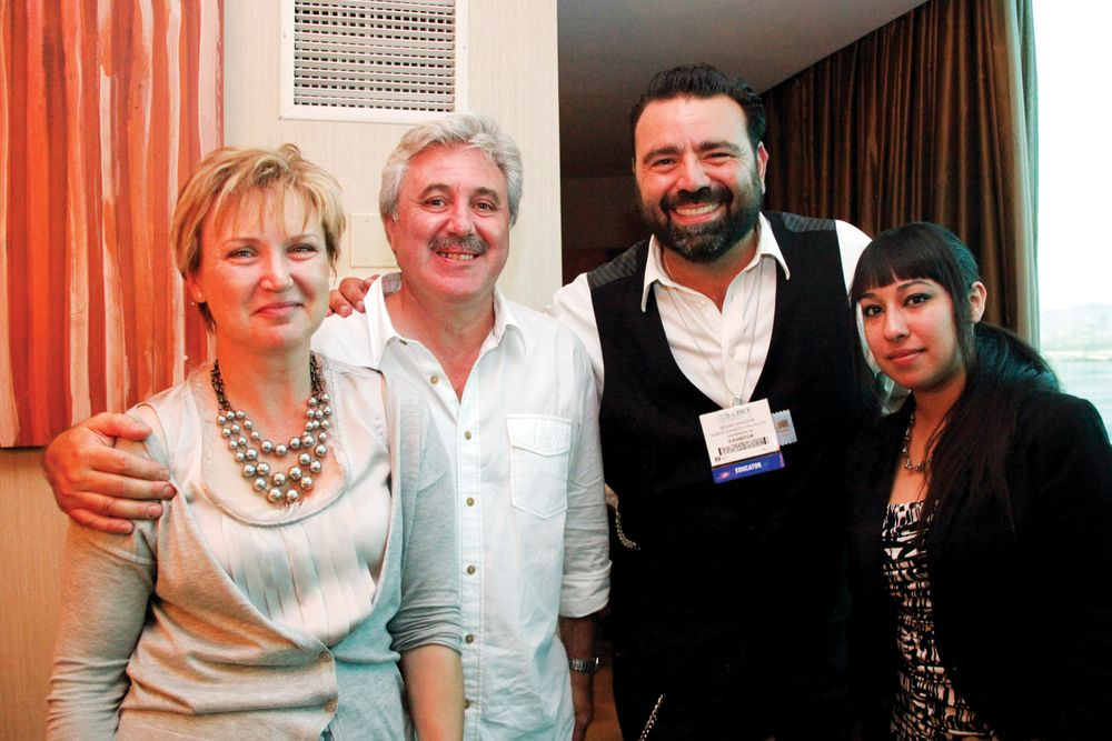 <p>Belava&rsquo;s Natalie and Vladimir Zolotnik, Nubar&rsquo;s Sevag Aivazian, and Belava&rsquo;s Josephine Tejada<br /><br /></p>
