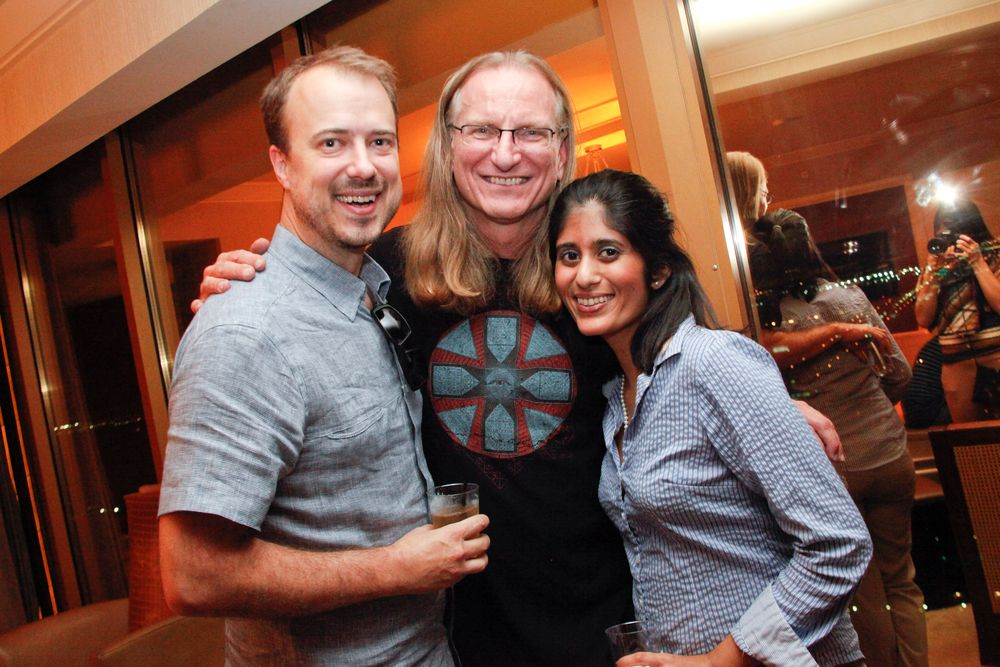 <p>Sweet Squared's Samuel Sweet, industry chemist Doug Schoon, and NAILS' Sree Roy</p>