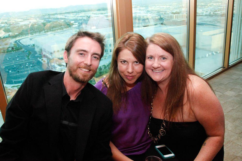 <p>Tim Crowley, Star Nail's Arica Carpenter, and Hannah Lee</p>