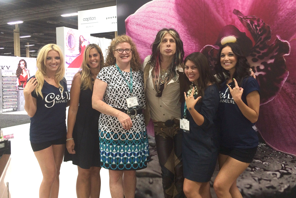 <p>All the ladies at NAILS love Steven Tyler!</p>