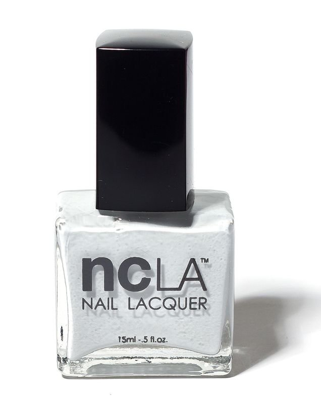 <p><strong>NCLA</strong> (Nail Couture Los Angeles)&rsquo;s Downtown Dollface is a light grey cream.</p>