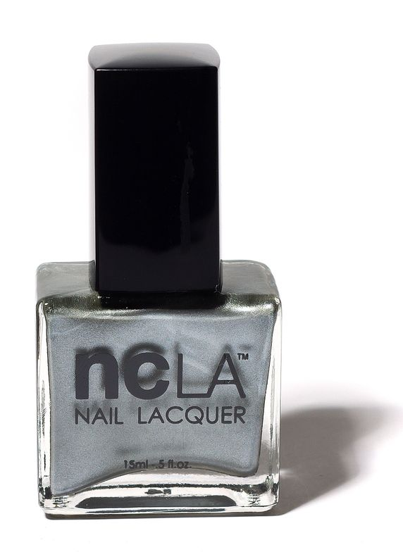 <p><strong>NCLA</strong> (Nail Couture Los Angeles)&rsquo;s LAX Jet Setter is a metallic, frosty silver.</p>