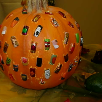 Reaves' students entered these designs in a school Halloween nail art competition.