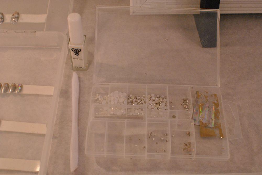 <p>Supplies used to create the Morgan Taylor nail art at Betsey Johnson.</p>