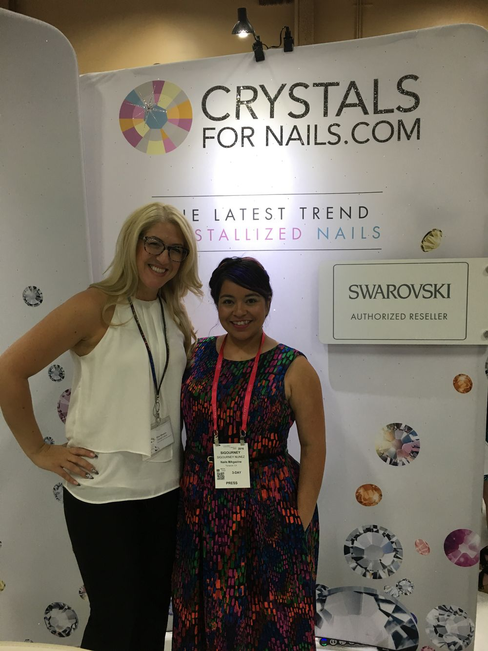 <p>Gina Silvestro and NAILS associate editor Sigourney Nunez (right)</p>