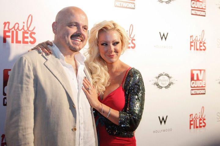<p>Grammy-award-winning producer Walter Afanasieff with Katie Cazorla</p>