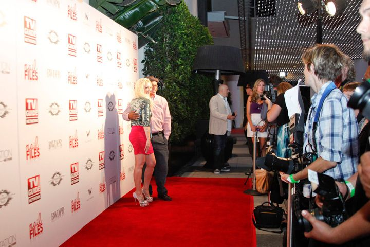 <p>Katie Cazorla's red carpet premiere party for her reality television show, Nail Files, on the TV Guide Network</p>