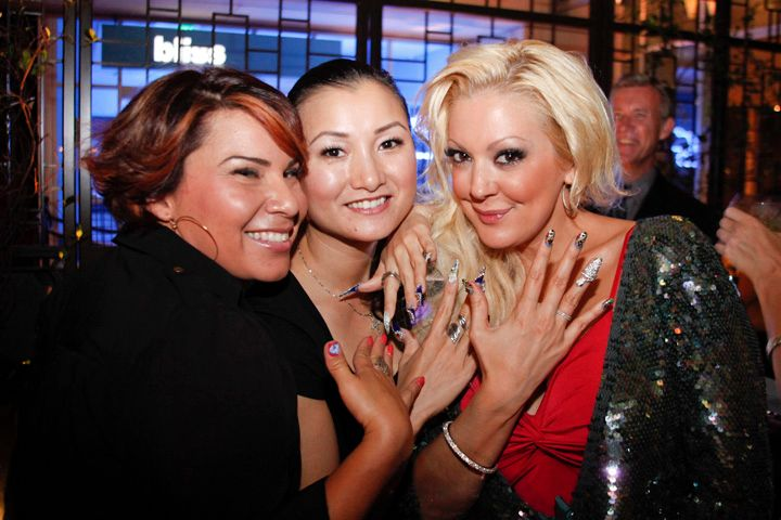 <p>Katie Cazorla shows off her nail art with Beautiful Nails educator Ann Chang</p>