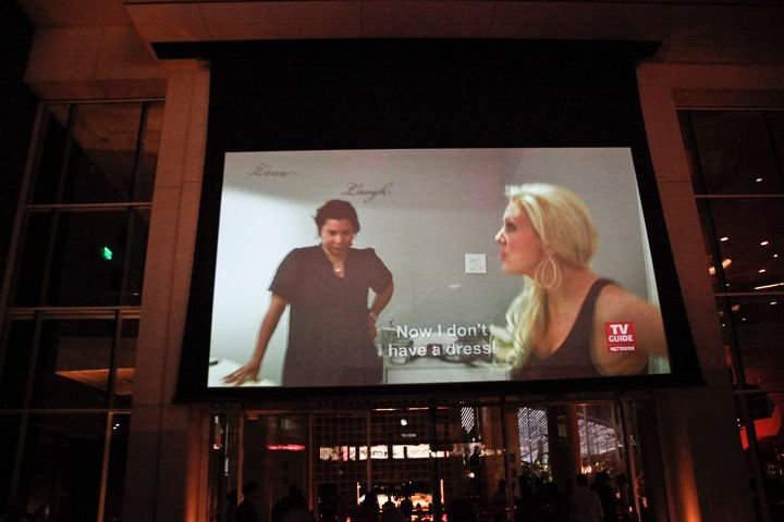 <p>Guests for Katie Cazorla's Nail Files season 2 premiere watch a special screening of the first two episodes in the outside lounge at the W.</p>