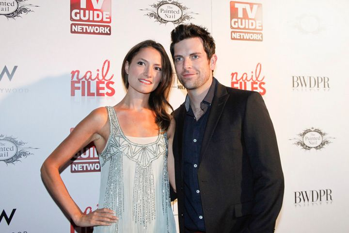 <p>Actress Laura Perloe and recording artist and The Voice contestant Chris Mann</p>